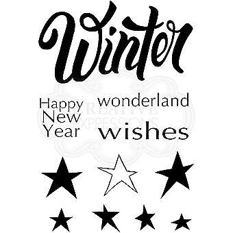 Holzgeschirr klar Singles Winter Wonderland 4 in x 6 in Stempel