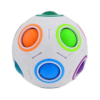 Magic Rainbow Puzzles Creative Maze Toy, Fidget Ball Autism Educational (as