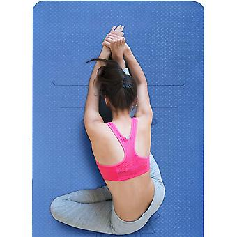 Kuyou Yoga Mat, TPE Eco Friendly Fitness Yoga Mat Non Slip Exercise Mat