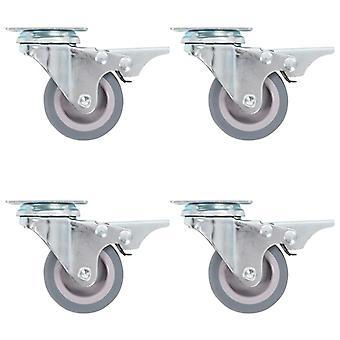 vidaXL 12 stk. drejelige hjul 50 mm