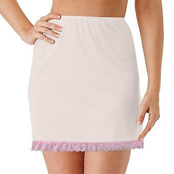 Women Elastic Waist Half Slip Petticoat Skirts Underskirt Lady Crinoline Milk