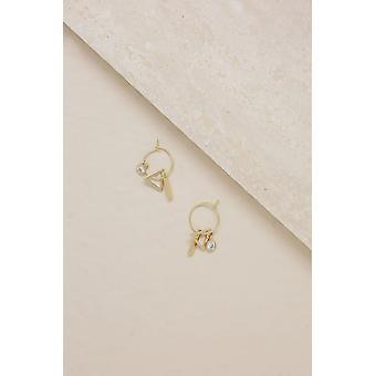 Simple Treasures Small Hoop Earring In Gold