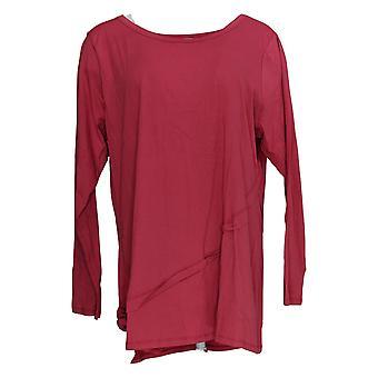 LOGO by Lori Goldstein Women's Top Asymmetric Hem Rose Pink A386790