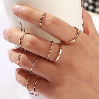 Fashion Simple Design Vintage Joint Rings Set