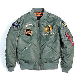 Autumn Men Bomber Pilot Jacket, Jean Sportswear Thin Coat