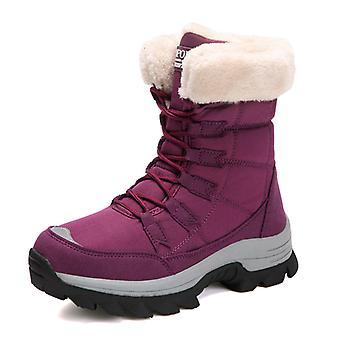 Bottes de neige hautes de cheville de femmes 9013 rouge