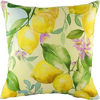 Evans Lichfield Fruit Lemon Cushion Cover