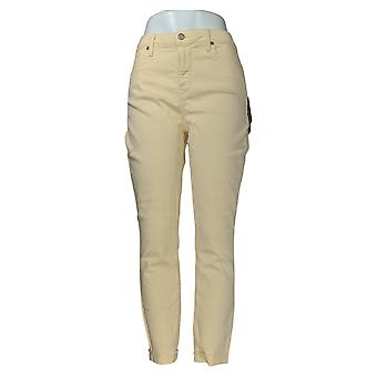 NYDJ Women's Jeans Ami Skinny Ankle With Raw Cuff Marigold Yellow A346593