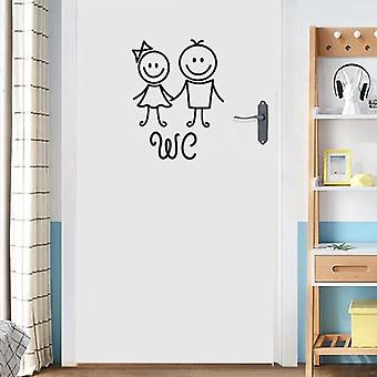 Men-women Wc Wall Sticker For Decoration Home Waterproof Poster Door