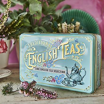Vintage victorian tea tin with 72 teabag selection