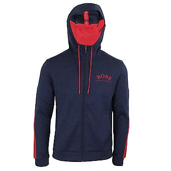 Hugo boss athleisure men's navy and red saggy zipped hoody