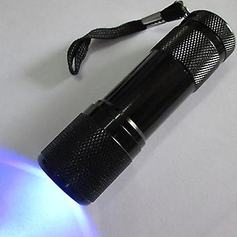 3aaa Battery Uv Lamp, 9 Led Flashlight, Ultra Violet Light