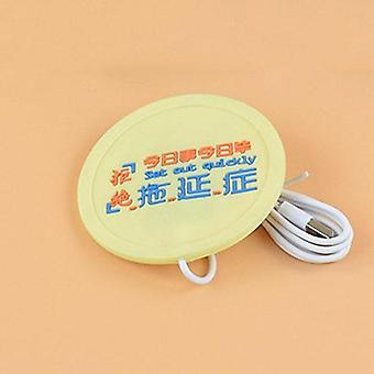 Usb Warmer Gadget Cartoon Silicone Thin Cup-pad / Coffee Tea Drink Usb Heater