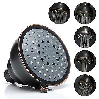 Høytrykksdusjhode - 4 tommers 5 innstillinger justerbar bad dusjhodet spray dusjhode