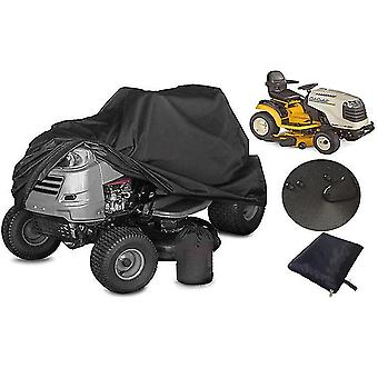 Oxford Cloth Black Lawn Mower Cover Lawn Mower Waterproof Dust Cover Polyester Sunscreen Car Cover