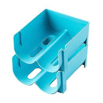 2pcs Boisson empilée rack de stockage en plastique rack de stockage stratifié 14x16x7.5cm