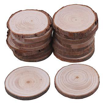 20piece natuurlijke onvoltooide houten plakjes bruiloft ambachtelijke handgemaakte DIY 4-5cm