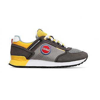 Men's Shoes Colmar Sneaker Travis Sport Colors 039 Suede/ Gray Fabric/ Yellow Us21co05