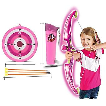 Flashing Shooting Sword, Bow Arrow Slingshot Set- Light Saber, Laser Double