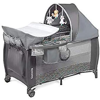 Wokex Sven Plus 2 in 1 Baby Bett Laufstall Baby ab Geburt bis 15 kg Wickelauflage Moskitonetz