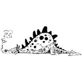 Dragón durmiente sello montado en madera