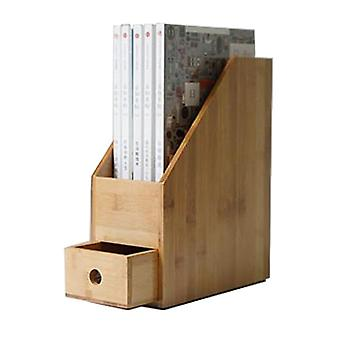 Bamboo Wood Document Tray Files Tray Wooden Office Holder