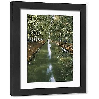 Canal de Brienne, town of Toulouse, Haute Garonne, Midi-Pyrenees, France, Europe. Large Framed.