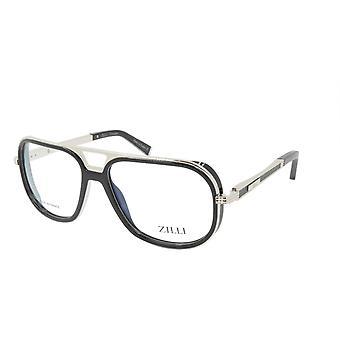 ZILLI glasögon Ram Titanacetat Läder Frankrike Tillverkad ZI 60044 C06