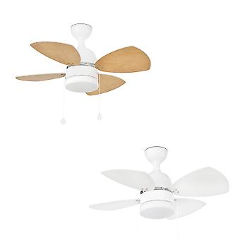 Ceiling fan Mediterraneo White with light