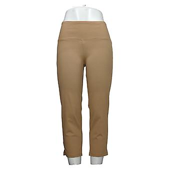 Dames met Control Dames Jeans (XXS) Buik controle Crop Beige A306449