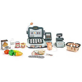 Spielzeugkasse mit Scanner + Taschenrechner 24-teilig