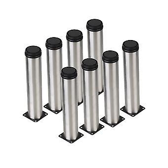 8Pcs pierna de zócalo de metal ajustable para muebles pies de reemplazo 50x250mm