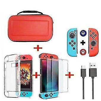 Red protective hard case for nintendo switchsunvalley-us portable x2934