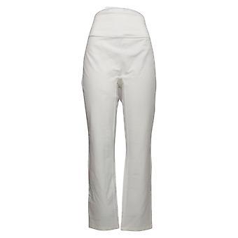 Mujeres con control pantalones de mujer estiramiento pedal empujadores lado blanco A202284