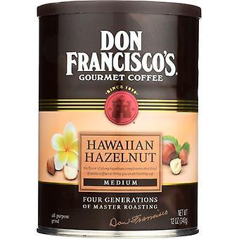 Don Francisco Coffee Hawaiian Hzlnt Can, Case of 6 X 12 Oz