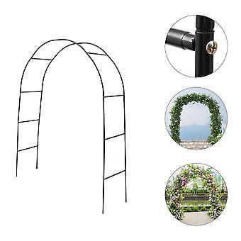 1 Set Metal Pergola Arbor Wedding Arch Garden Outdoor Indoor Assemble Freely