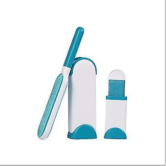 Spazzola per rimuovere la pelliccia per la toelettatura degli animali domestici, spazzola per la depilazione elettrostatica riutilizzabile (blu chiaro)