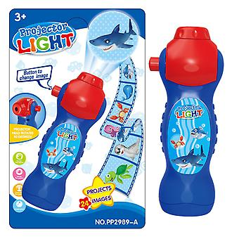 24 Kinds Of Patterns Flashlight Projection Lamp Educational Toys Children's Christmas Gifts