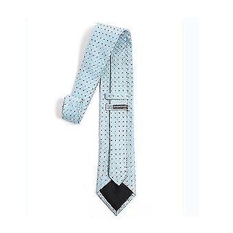 Lazo delgado de color sólido clásico para hombre, corbatas de hombre, lazos delgados tejidos delgados (azul)