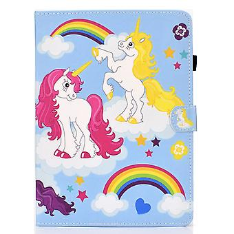Case For Samsung Galaxy Tab A7 Cover With Auto Sleep/wake Pattern Magnetic - Color Unicorn
