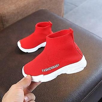 Höst vinter barn sneakers casual skor slip-on andningsbara