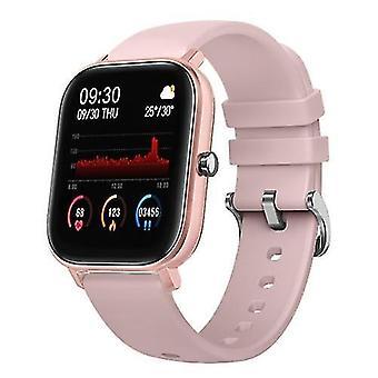 الساعات الذكية p8 ساعة ذكية 1.4 بوصة لون شاشة تعمل باللمس معدل ضربات القلب رصد ipx7 سوار اللياقة البدنية للماء (الوردي)