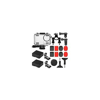 40M Waterproof Protective Case Shell Bicycle Mount Sticker Kit for DJI OSMO Action Sports Camera