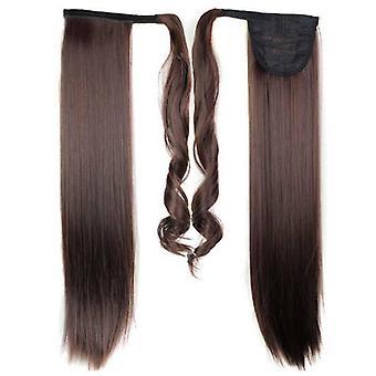 (60cm2-33#) Lung Straight Hair Wrap Ponytail Clip în Pony Coada Extensii de păr naturale