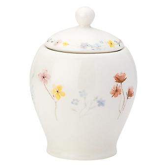 English Tableware Co. Pressed Flowers Sugar Pot