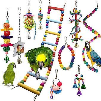 Parrot Chew Budgie Perch a Bird Swing Pet Doplňky