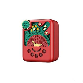 Remax RB-M53 AI Smart Voice Bluetooth Loudspeaker Portable Mini Radio Speaker Red
