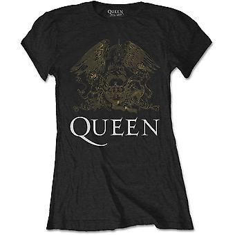 Queen - Crest Small T-Shirt Femme - Noir