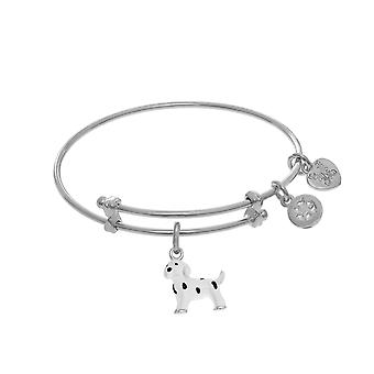 Dalmatian Enamel Charm Adjustable Bangle Girls Bracelet