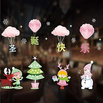Lomakoriste näyttää seisoo joulu tarra koristelu joulu ikkuna tarra sisustus diy joulu koristelu tarra
